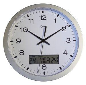 Pendule quartz à date  Ø30 cm - AIC International
