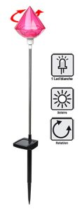 Solar spotlight in stainless steel - AIC International