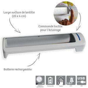 Loupe éclairante rechargeable Linéa - AIC International