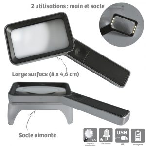 Rechargeable Magnifier Duo magnetis - AIC International