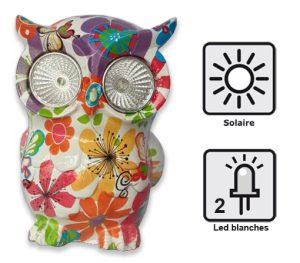 Hibou lumineux solaire Otus - AIC International