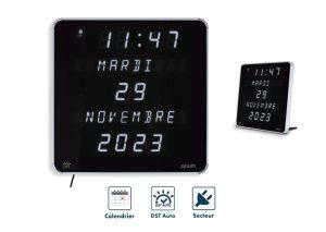 White LED clock DST Ephemeris - AIC International