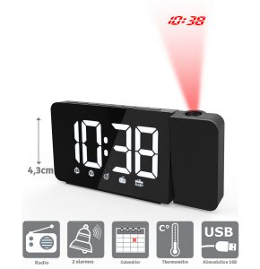Clock-radio with big figures - AIC International