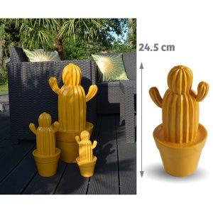 Cactus d'extérieur Yuma Jaune 24.5cm - AIC International