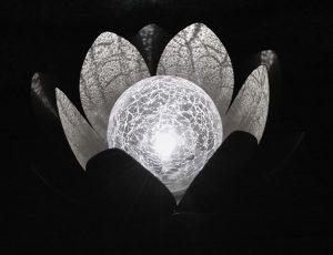 Déco lumineuse Solaire Lotus – Blanc