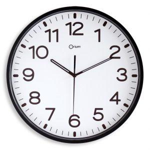 Horloge silencieuse Ø30cm noir - AIC International
