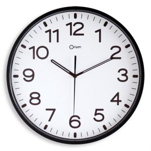 Silent black clock Ø30cm - AIC International