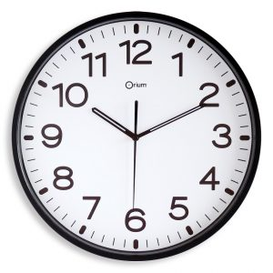 Silent black clock Ø30cm - AIC International