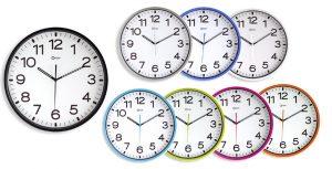 Horloge silencieuse Ø30cm gris