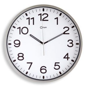 Horloge silencieuse Ø30cm gris - AIC International