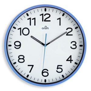 Horloge silencieuse Ø30cm bleu - AIC International