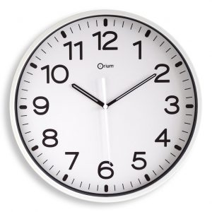 Horloge silencieuse Ø30cm blc - AIC International