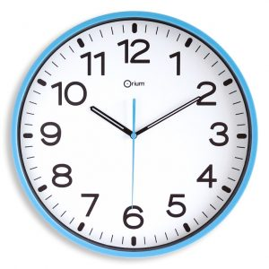 Horloge silencieuse Ø30cm azur - AIC International