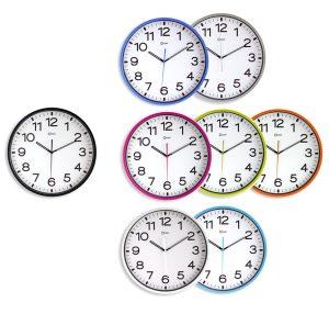 Horloge silencieuse Ø30cm azur