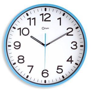 Horloge silencieuse Ø30cm azur - AIC International