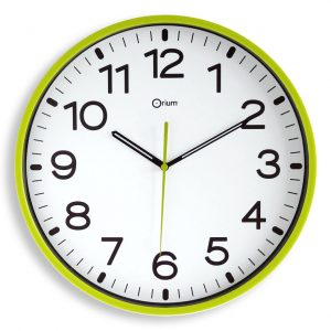 Horloge silencieuse Ø30cm anis - AIC International