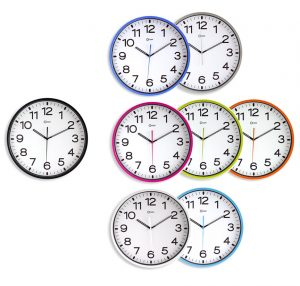 Horloge silencieuse Ø30cm oran