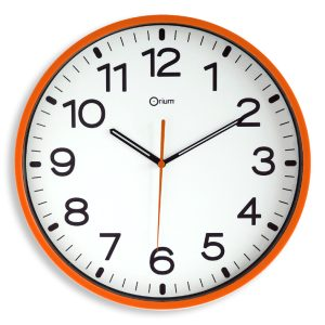 Silent orange clock Ø30cm - AIC International