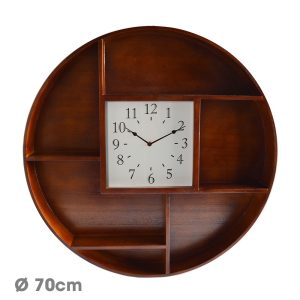 Horloge Etagère Hyla Ø70 cm - AIC International
