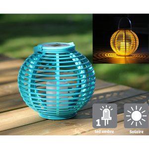 Blue colored lantern Ø22.5 cm - AIC International