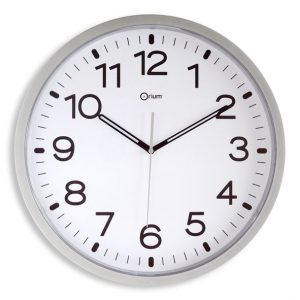 Silver quartz clock  Ø40 cm - AIC International