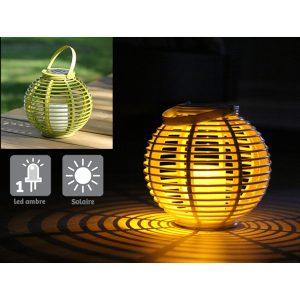 Lanterne colorée Ø22.5 cm vert - AIC International