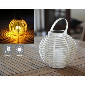 Lanterne colorée Ø22.5 cm blanc - AIC International