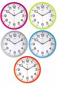 Horloge quartz orange Ø 40 cm