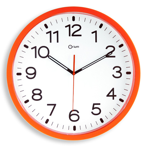 photo collection horloge quartz orange 40. Black Bedroom Furniture Sets. Home Design Ideas