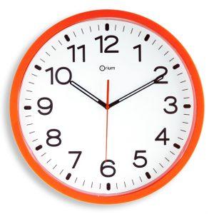 Horloge quartz orange Ø 40 cm - AIC International