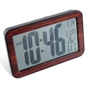 Horloge RC digitale 9.5cm BOIS - AIC International