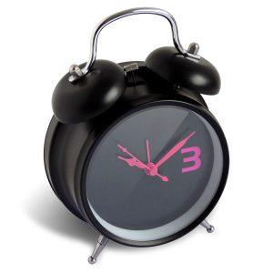 Alarm clock Twin Bell Blacky  Ø11.7 - AIC International