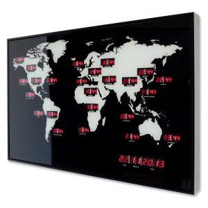 Pendule monde à LED - AIC International