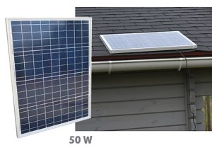 Fix polycristalin solar panel 50W - AIC International