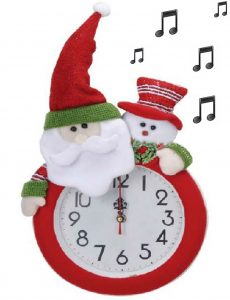 Horloge Noël musicale Ø24cm - AIC International