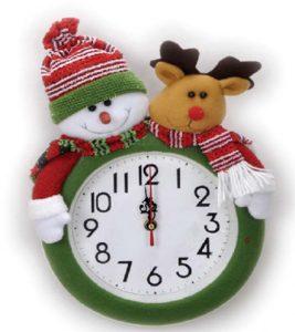 Horloge Noël musicale Ø24cm