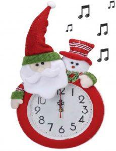 Horloge Noël musicale Ø24cm - AIC International