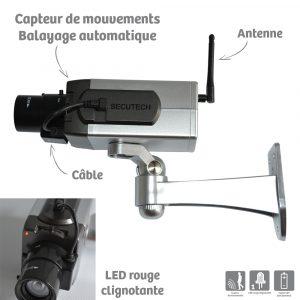 Caméra de surveillance factice à détection de mouvements - AIC International