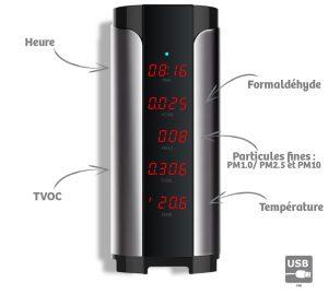Mesureur qualité de l'air Complet Tower - AIC International