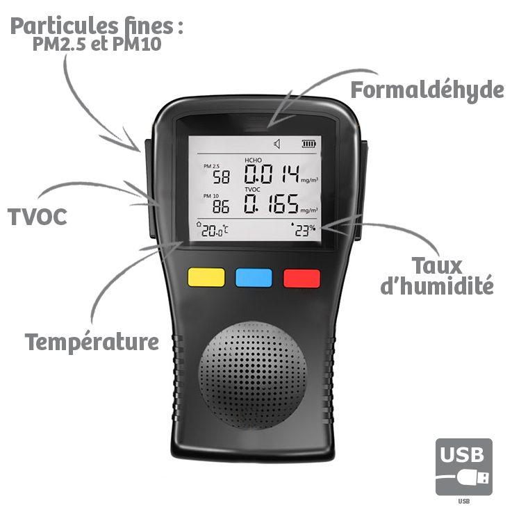 Mesureur de qualité de l'air intérieur Quaelis 32   AIC ...