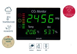 Master CO2 air quality monitor Quaelis 12 - AIC International