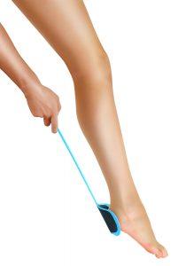 Long handle anti-callus grater