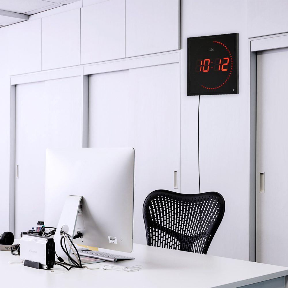 horloge led radio contr l e aic international. Black Bedroom Furniture Sets. Home Design Ideas