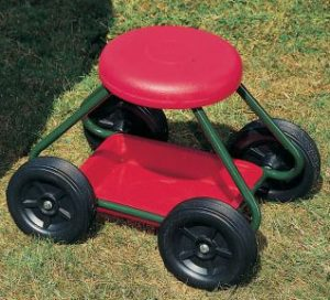 Seat of gardening rise on wheel - AIC International