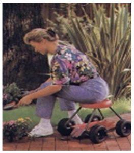 Siège de jardin sur roue