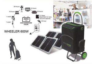 Pack Batterie autonome à recharge solaire 504Wh - AIC International