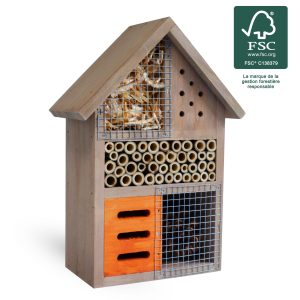 Hôtel à insectes Milton 25 cm FSC® certifié 100% - AIC International