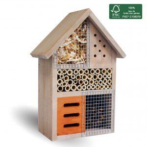 Hôtel à insectes Milton 25 cm – FSC 100% (EN) - AIC International