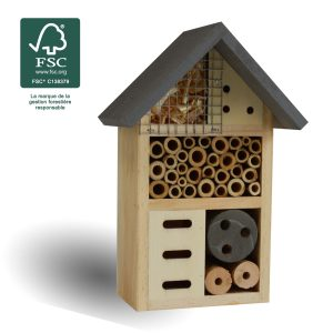 Hôtel à insectes Mary 20cm FSC® certifié 100% - AIC International