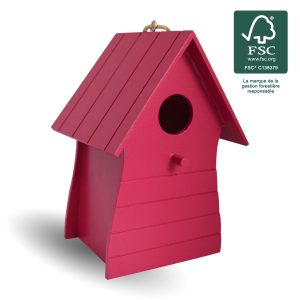 Nichoir bois Costa Fushia FSC® certifié 100% - AIC International